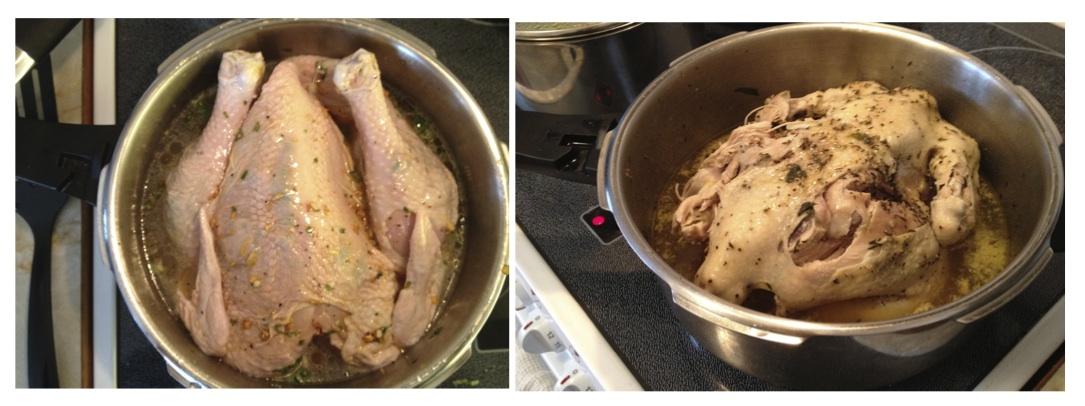 Kyckling tryckkokare c