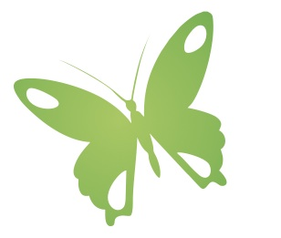 Green butterfly logo