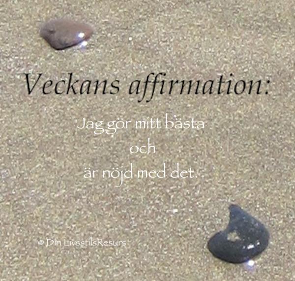 Veckans affirmation (50a)