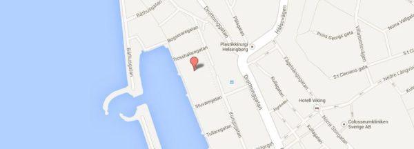 Karta AktivFysio Helsingborg