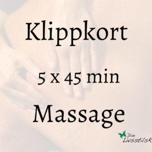 klippkort 5x45 massage