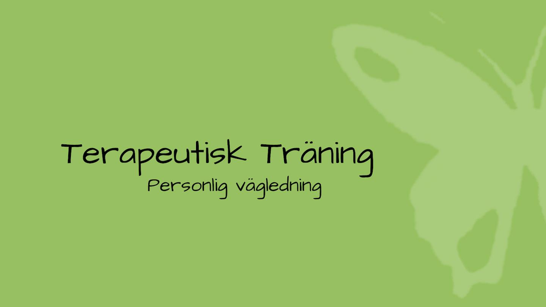 tjänsten terapeutisk träning på grön bakgrund med fjäril
