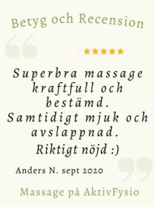 recension massage Anders