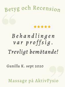recension massage Gunilla