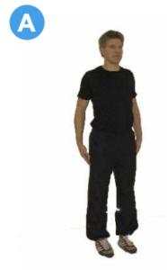 Övningen Standing shoulder rolls A