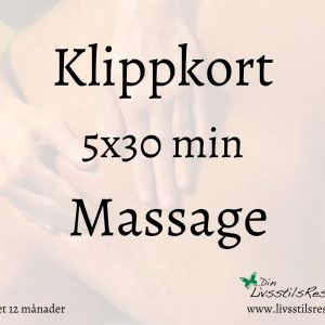 Klippkort Massage 5x30